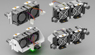 Just 2 Types of 40mm Hot-Swappable Fans (Shown for 1U Chassis)